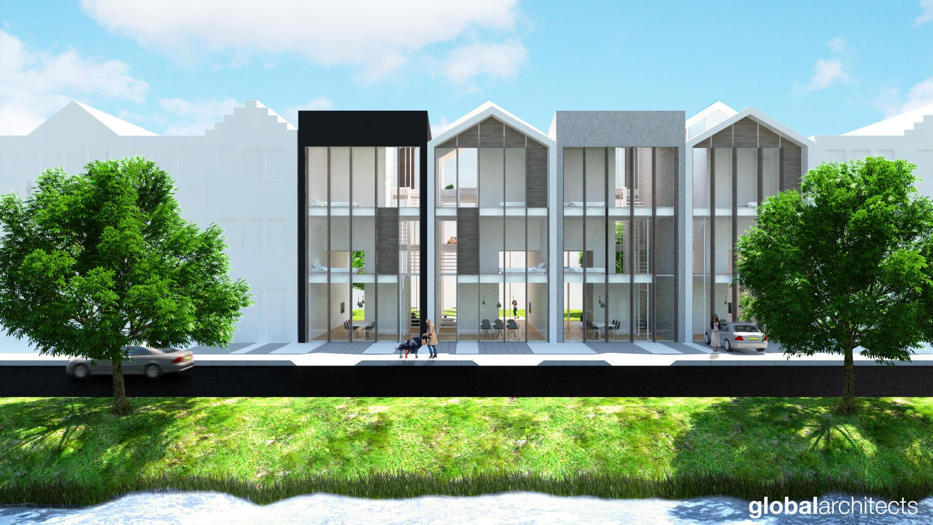 Het Luik Passief Rijtjeshuis Global Architects