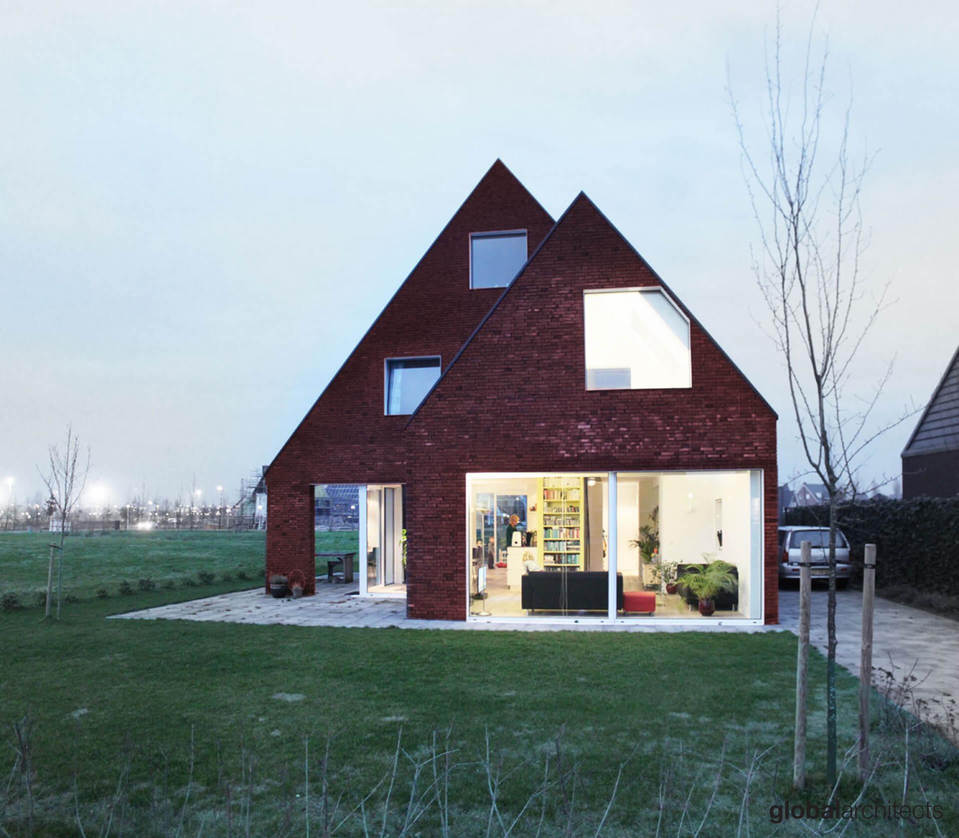 villa-architectuur-architect vrijstaande-woning-Dordrecht-De Vrije Wilg-Architect