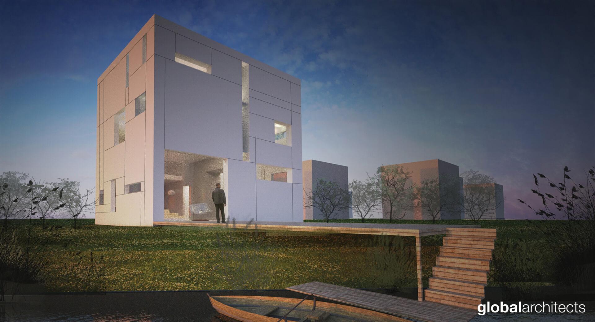 villa kubuseiland villa-architectuur-architect vrijstaande-woning Voorne Putten