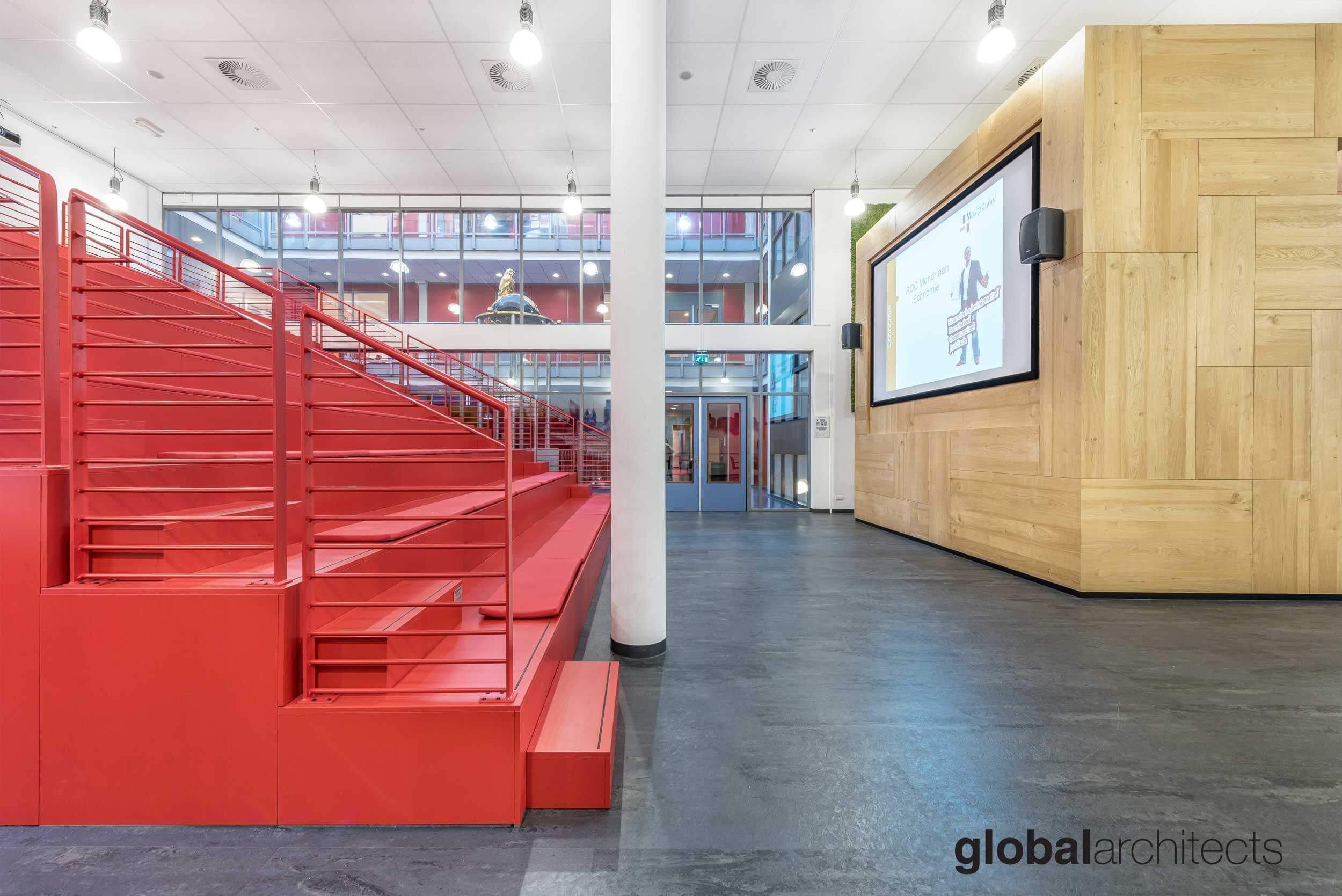 Architectenbureau Den Haag : Roc mondriaan interieur school architectenbureau denhaag global