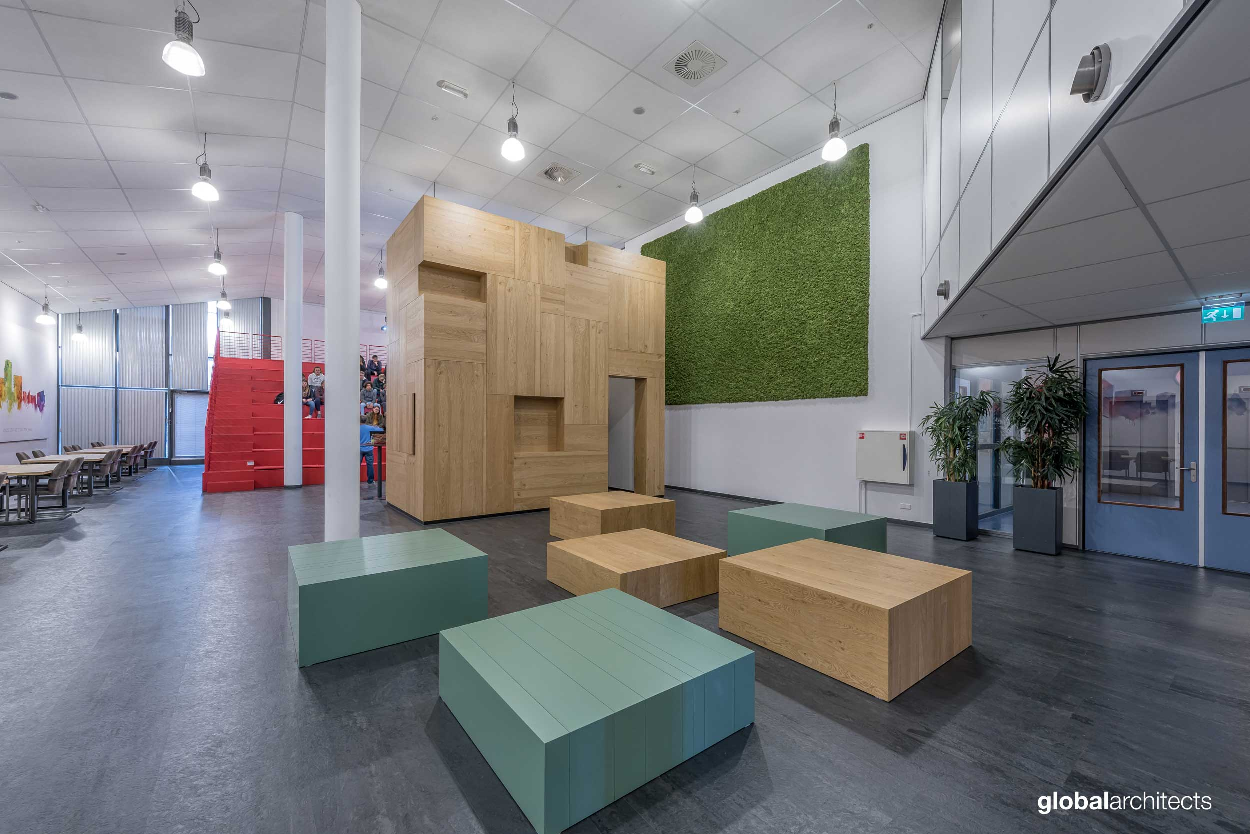 roc mondriaan school interieur architectenbureau architect