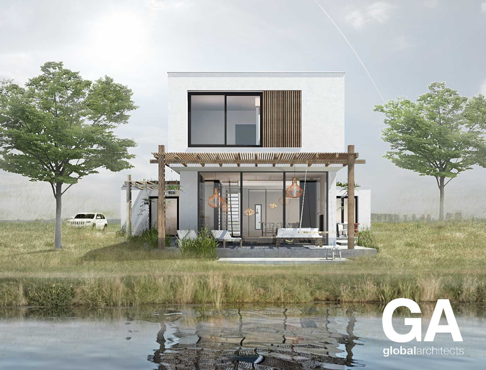 Ibiza villa-architectenkavels-De vrije Wilg-kavel-architect-Dordrecht-zelfbouw